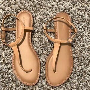Brand new, never worn! Nude thong sandals